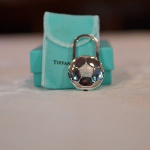 Tiffany and Co soccer keychain ring